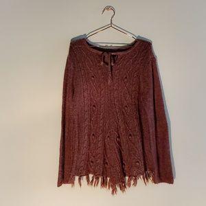 Prana | Boho Fringed and Textured Weave Sweater